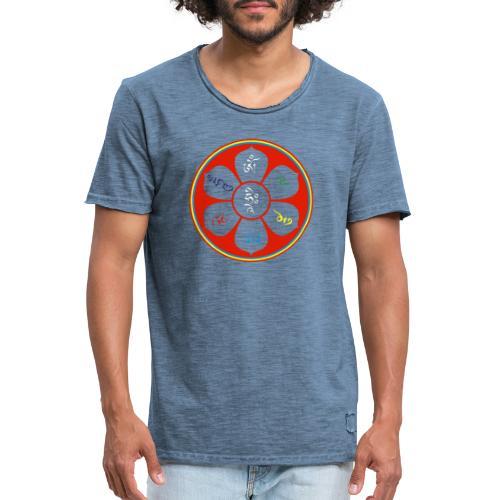 OM MANI - Männer Vintage T-Shirt