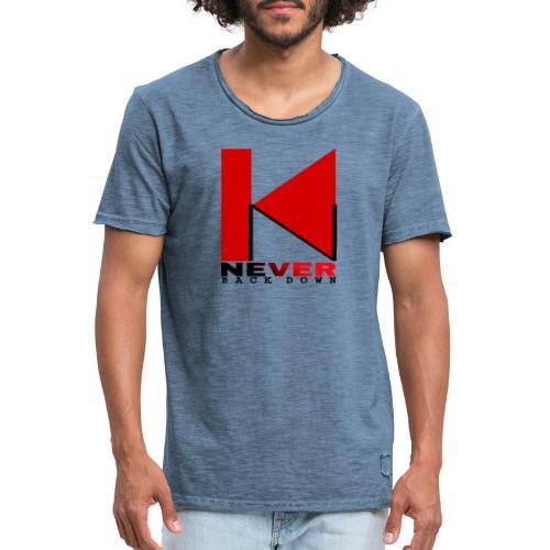 NEVER BACK DOWN - T-shirt vintage Homme