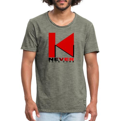 NEVER BACK DOWN - T-shirt vintage Homme