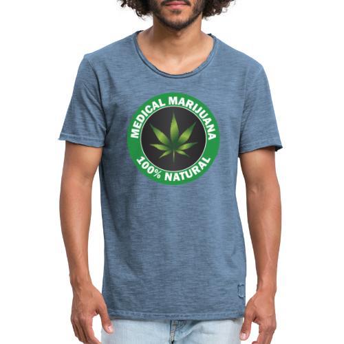 Medicinsk marijuana - Vintage-T-shirt herr