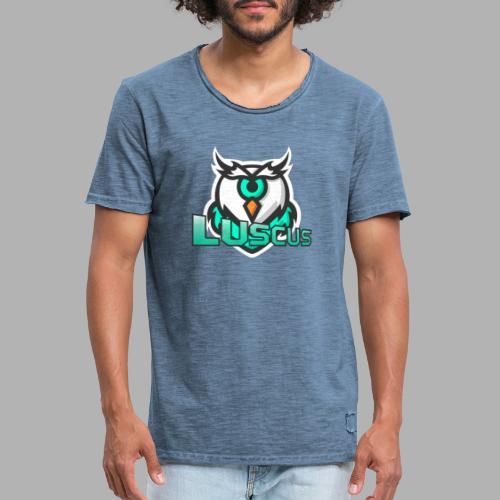 lucus schrift gross - Männer Vintage T-Shirt