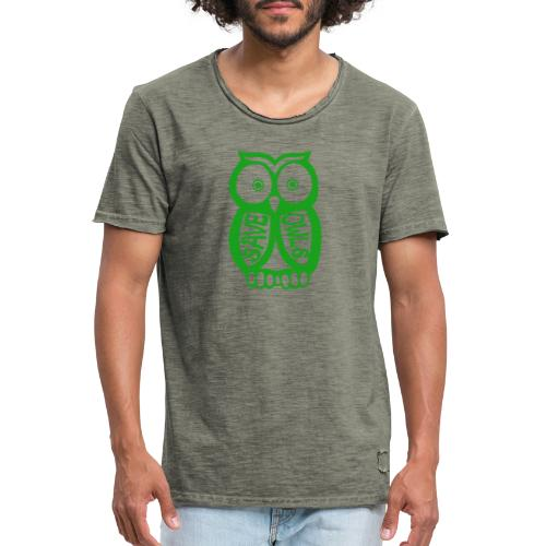 Save owls - T-shirt vintage Homme