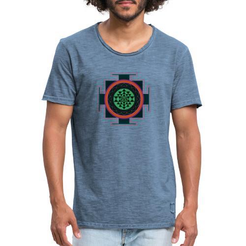 Sri Yantra Mandala - Männer Vintage T-Shirt