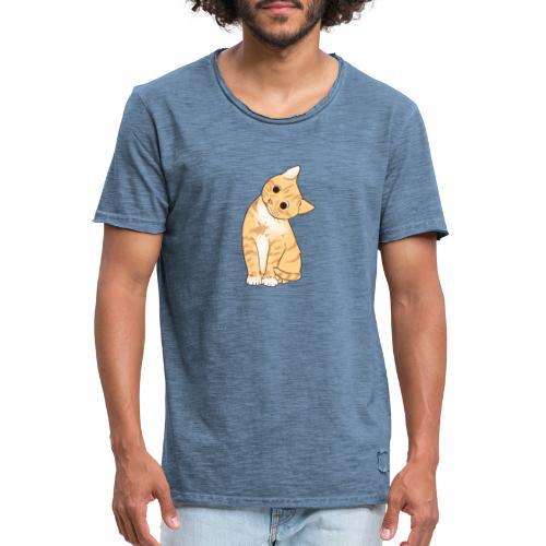 Pngtree cat orange cartoon 4992691 - Männer Vintage T-Shirt