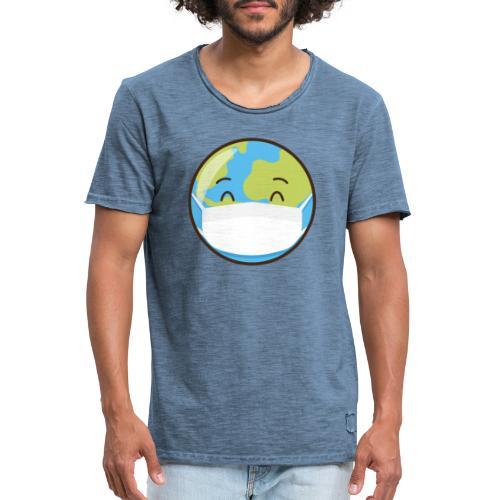 Mundo mascarilla - Camiseta vintage hombre