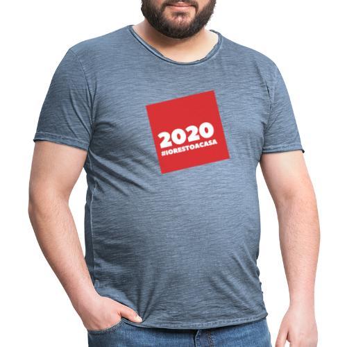 IORESTOACASA - Maglietta vintage da uomo
