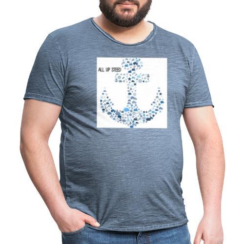 ALL UP STEED - Männer Vintage T-Shirt