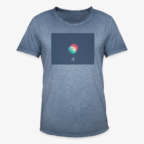 Moon glitch - Maglietta vintage da uomo
