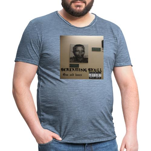 SCREAMING SKULL - Goo and bones - Vintage-T-skjorte for menn