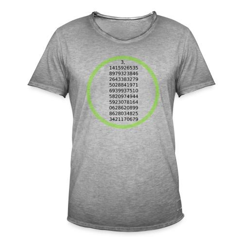 Number Pi Green Circle - Miesten vintage t-paita