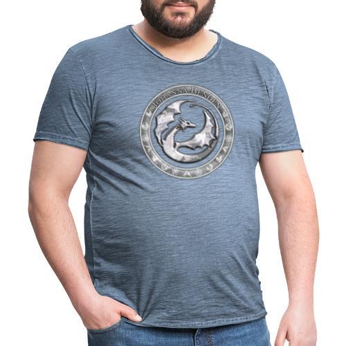 Drachenlogo Silberweiß - Männer Vintage T-Shirt