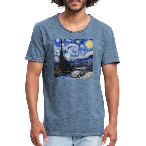 Notte stellata Van Gogh Citroen 2cv furgonette - Maglietta vintage da uomo