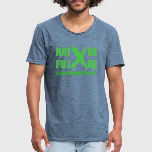 Nature -X-Future #SieVerhandeltNicht - Männer Vintage T-Shirt
