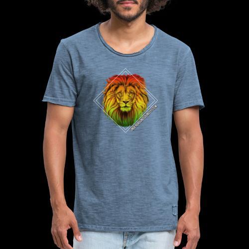 LION HEAD - UNDERGROUNDSOUNDSYSTEM - Männer Vintage T-Shirt