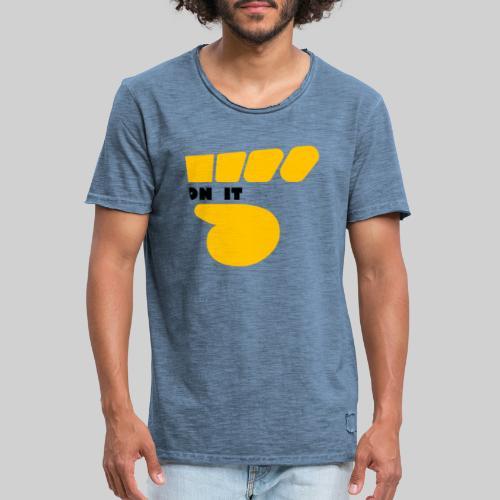Logo 5 on It jaune / noir - T-shirt vintage Homme