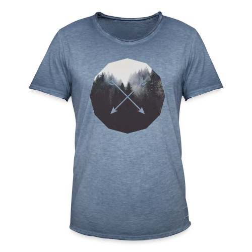 Misty Forest Blended With Crossed Arrows - Maglietta vintage da uomo