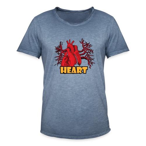HEART - Maglietta vintage da uomo