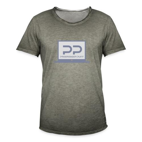 muismat met logo - Mannen Vintage T-shirt