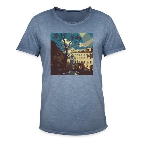 Abstrakt Budapest - Männer Vintage T-Shirt