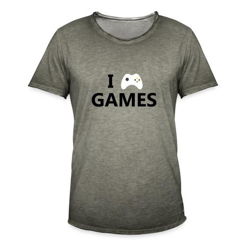 I Love Games - Camiseta vintage hombre