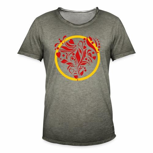 Herzemblem - Männer Vintage T-Shirt