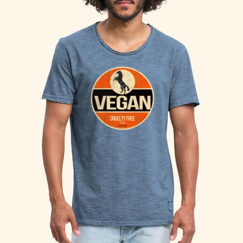 VEGAN Prancing Horse - Men's Vintage T-Shirt