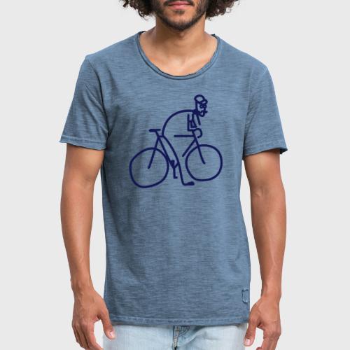 Vélo et cycliste à moustaches - T-shirt vintage Homme