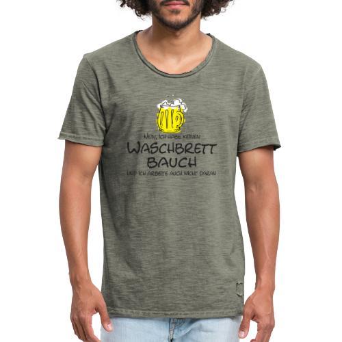 Waschbrettbauch; - Männer Vintage T-Shirt