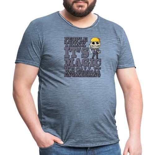 engineer - Mannen Vintage T-shirt