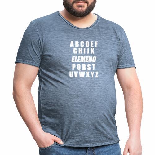 Buchstaben des Alphabets und Schreibelemente in de - Männer Vintage T-Shirt