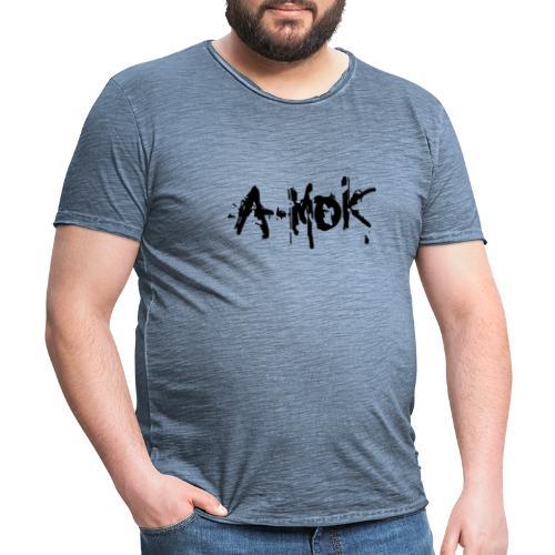 AMOK 2020 Schrift Schwarz V1 - Männer Vintage T-Shirt
