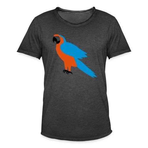 Parrot - Maglietta vintage da uomo