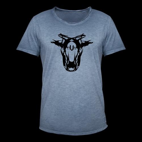 der hund 15x15 doppelkopf 1f - Männer Vintage T-Shirt