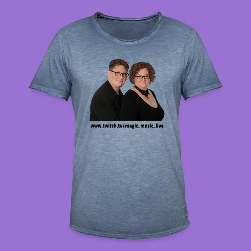 Klara und Bernhard Portrait - Männer Vintage T-Shirt