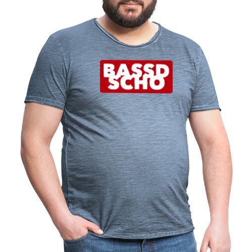 BASSD SCHO - Männer Vintage T-Shirt