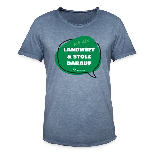 Landwirt und stolz darauf - Männer Vintage T-Shirt