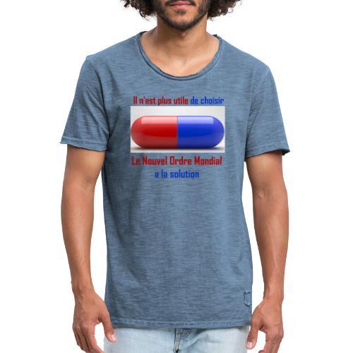 Une seule pilule désormais - T-shirt vintage Homme