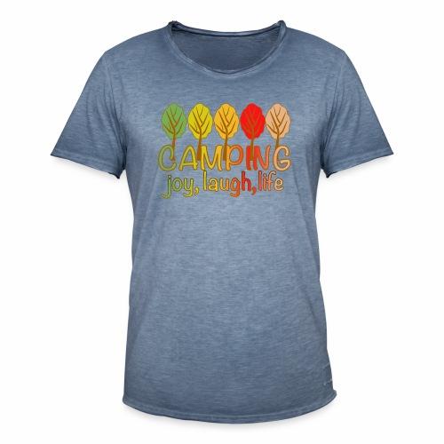 camping, joy, laugh, life - Männer Vintage T-Shirt