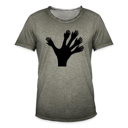 1000 Hände viel Arbeit wackeln machen tun schnell - Männer Vintage T-Shirt