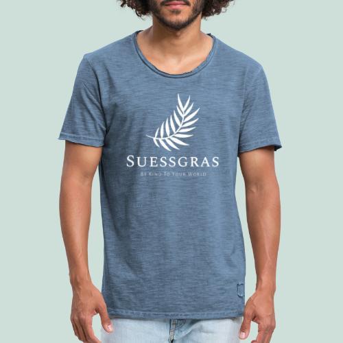 SUESSGRAS WHITE LEAF - Männer Vintage T-Shirt