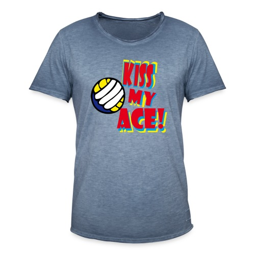 kiss my ace - Männer Vintage T-Shirt
