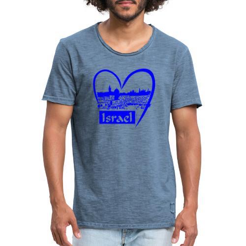 Jerusalem - I love Israel - blau - Männer Vintage T-Shirt