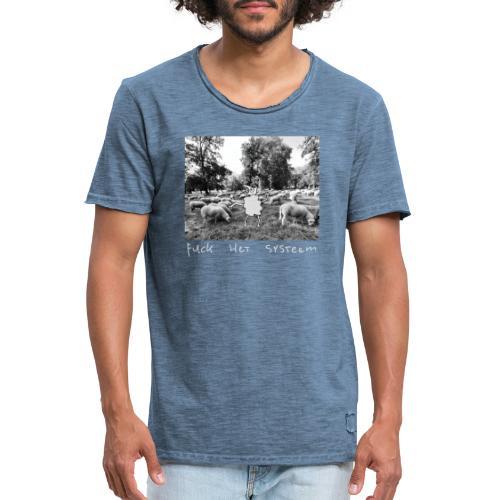 systeem - Mannen Vintage T-shirt