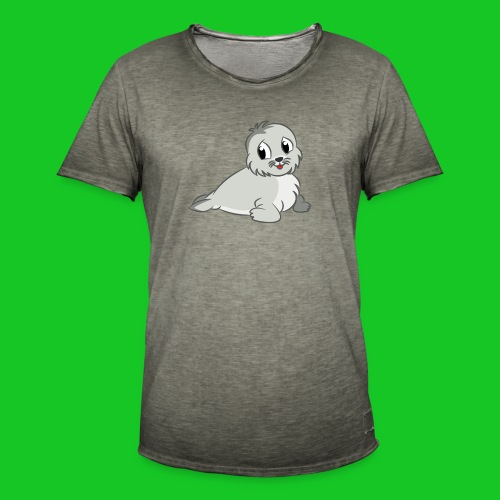 Zeehondje - Mannen Vintage T-shirt
