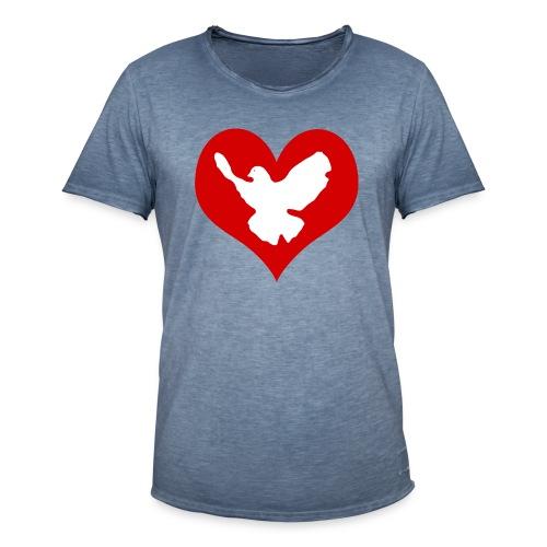 Peace & Love - Männer Vintage T-Shirt