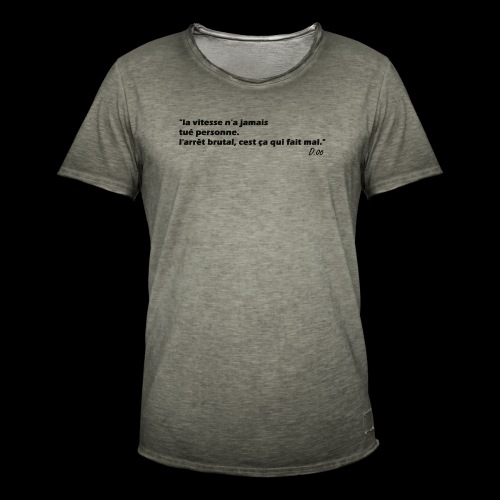 vitesse (noir) - T-shirt vintage Homme