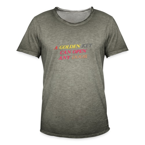 Say in English with 3D effect - Men's Vintage T-Shirt