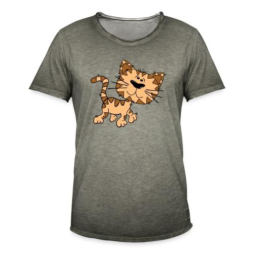 Cat - Männer Vintage T-Shirt