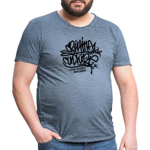 Criminal Culture - Männer Vintage T-Shirt