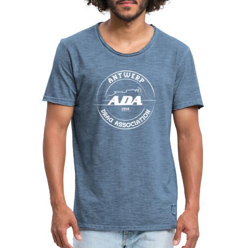 ADA DRAG Logo Groot Wit - Mannen Vintage T-shirt